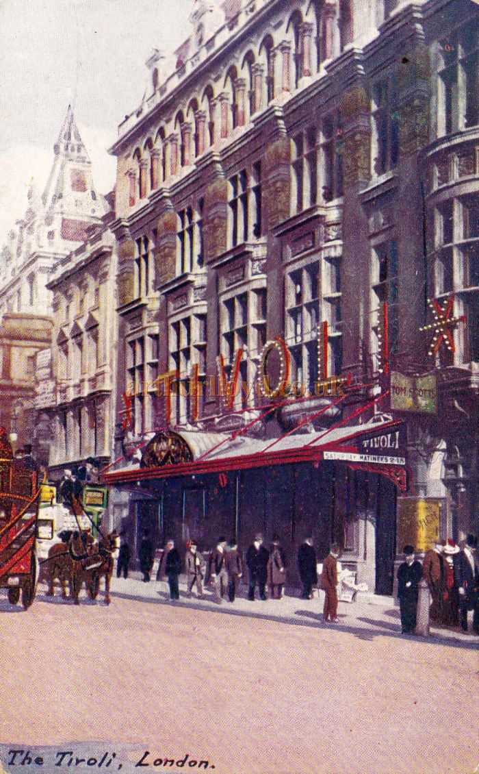 Postcard for the Tivoli Theatre, Strand - Sent in 1908.