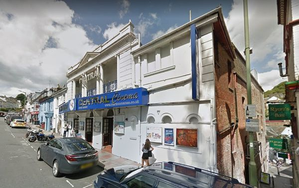 A Google StreetView Image of the Central Cinema, Torquay, formerly the Theatre Royal - Click to Interact.