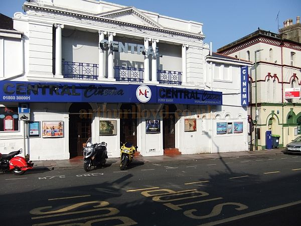 The former Theatre Royal, Torquay, today the Central Cinema - Courtesy Gorel Garlick.