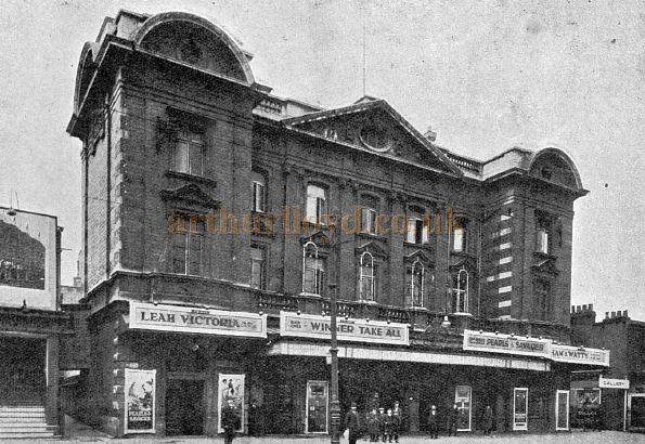The Tottenham Palace Theatre during the run of 'Winner Take All' in 1924 - From a Brochure for The Bulman Cinema Screen Company.
