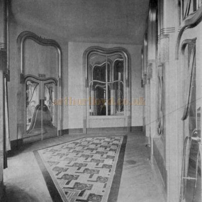 The 1930s redecorated Trocadero Vestibule - From the Architect & Building News May 2nd 1930.