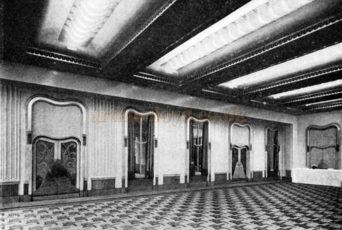 The 1930s redecorated Trocadero Grill Room Disappearing Wall - From the Architect & Building News May 2nd 1930.