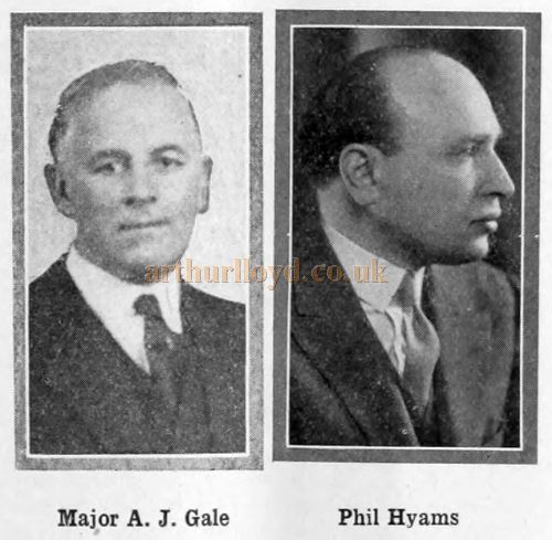 Major A. J. Gale and Phil Hyams - From the Bioscope Cinema Magazine, 13th July 1931.