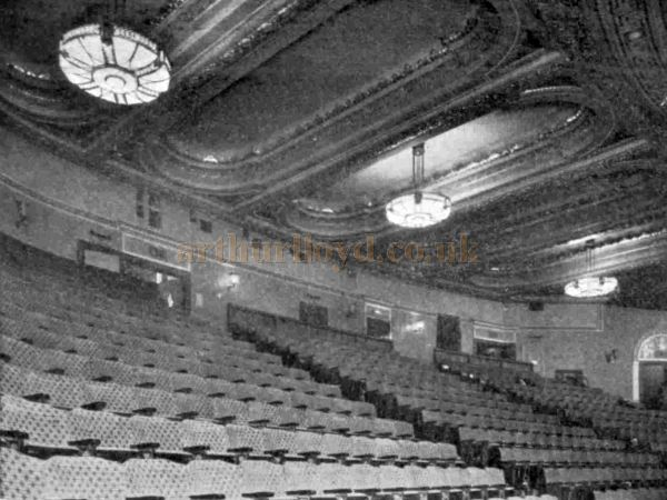 The Auditorium of the Trocadero, Elephant & Castle - From The Bioscope, 17th December 1930.