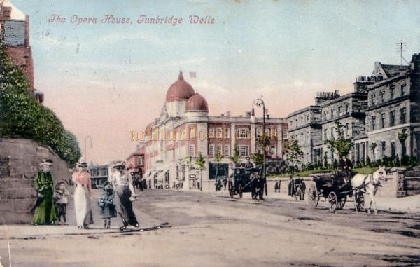 The Opera House, Tunbridge Wells - From a Tinted Colour Postcard sent in 1905.