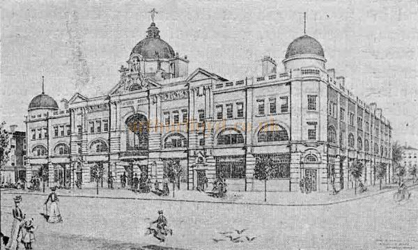 An early Sketch of the Tunbridge Wells Opera House, from 'The Playgoer' of 1901 - Courtesy Iain Wotherspoon.