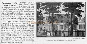 Tunbridge Wells Theatre, 1802. - From 'The Playgoer' of 1901