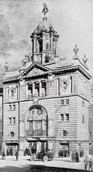An early artist's impression of Frank Matcham's 1911 Victoria Palace Theatre.