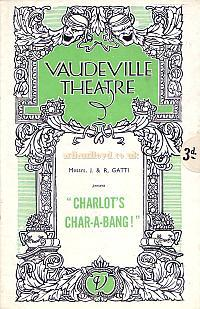 Programme for 'Charlo's Char-A-Bang!' at the Vaudeville Theatre in 1935, during the management of the Gattis.