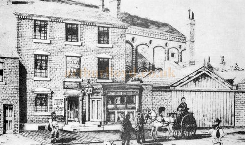 Charles Udall's early 1850s Royal Exchange Theatre and Public House, West Bromwich, later the Theatre Royal.