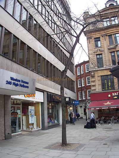 Site of the Holborn Empire in 2008 - Photo M.L.