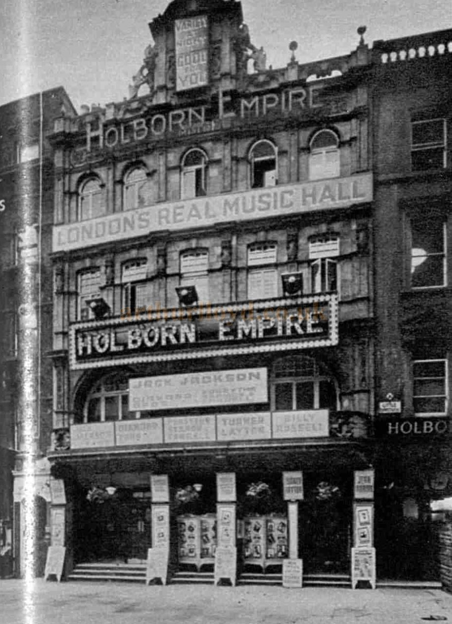 The Holborn Empire in its variety days - From The Sphere, September 28th 1957.