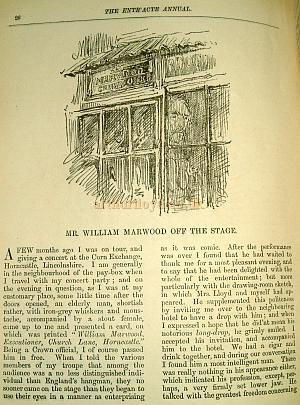 Mr. William Marwood Off The Stage - By Arthur Lloyd 1882 - Click for the whole article