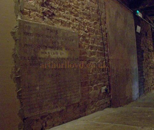 The Foundation Stone of Wilton's Music Hall in a photograph taken in August 2011. - Photo M.L.