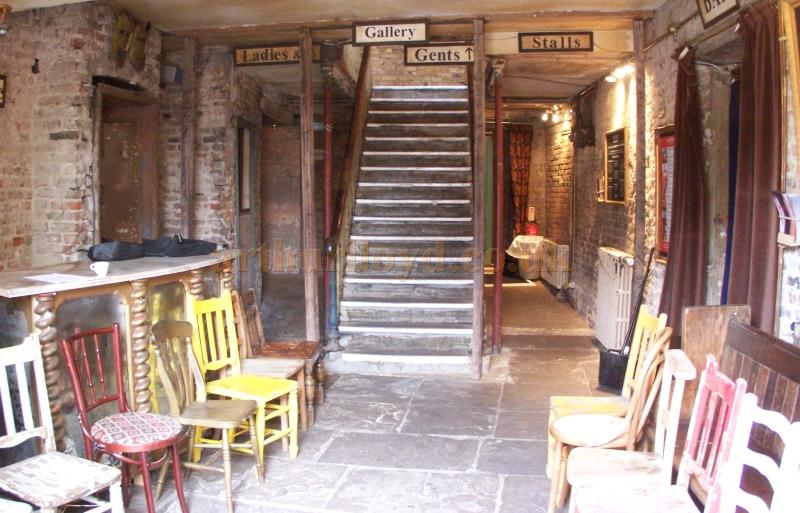 The foyer of Wilton's Music Hall in August 2011. - Photo M.L.