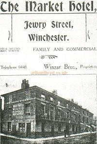 Advertisement for the Market Hotel, Winchester - Courtesy Alan Chudley. - Click for more information.