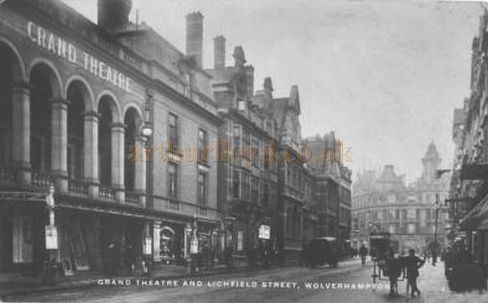 The Grand Theatre, Wolverhampton - From a postcard posted in 1910