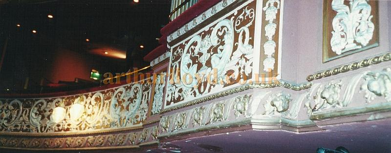 Plasterwork detail in the auditorium of the Grand Theatre, Wolverhampton in 2002 - Courtesy David Garratt