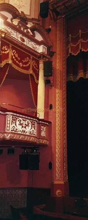 The stage right box in the auditorium of the Grand Theatre, Wolverhampton in 2002 - Courtesy David Garratt