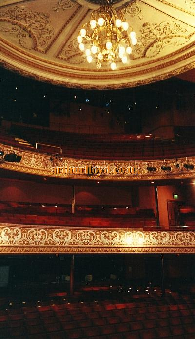The auditorium and ceiling of C. J. Phipps' Grand Theatre, Wolverhampton in 2002 - Courtesy David Garratt