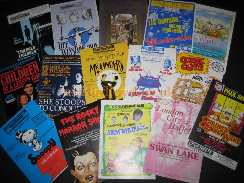 A selection of programmes for the Wolverhampton Grand Theatre - Courtesy David Garratt.