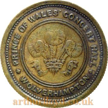 An Entrance Token for the Prince of Wales Concert Hall, Wolverhampton - Courtesy Paul Withers