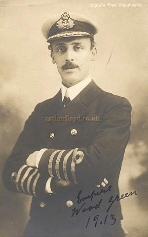 Two Postcards from the Wood Green Empire of Captain Fred Woodward (1913) and Jean and Josie (Signed To the dear Dresser) - From the Rose Burlingham collection - Courtesy The estate of Bob Capon.