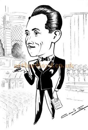 A sketch of George Hoare at the Wood Green Empire. George was manager of the Theatre from the late 1940s - Courtesy his son Jeremy Hoare.