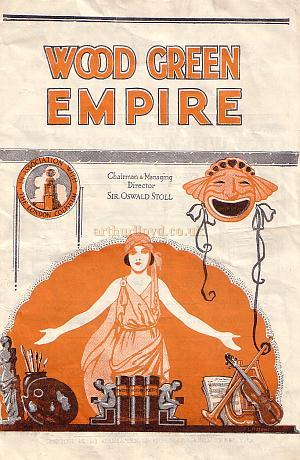 Variety Programme for the Wood Green Empire - Click to see the Entire Programme.