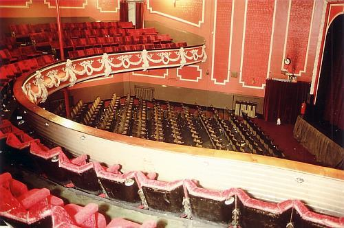 Auditorium of the Wrexham Hippodrome in 1985 - Courtesy Ted Bottle