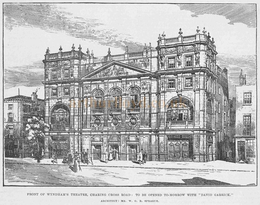 A Sketch of Wyndham's Theatre From the ERA of the 12th of August 1899