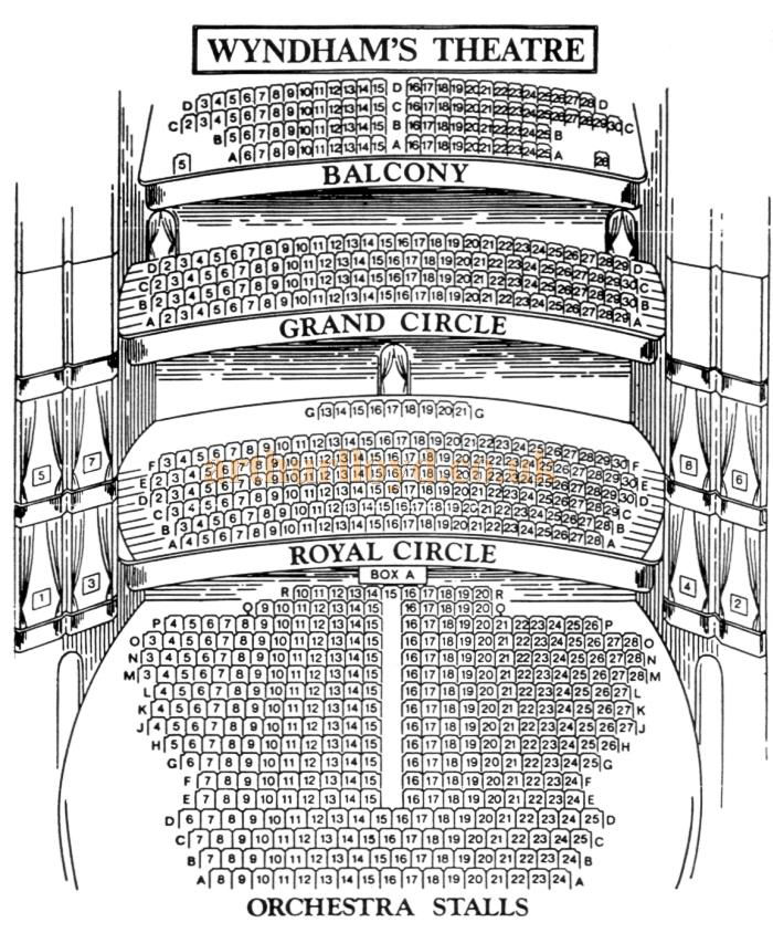 A 1920s Seating Plan for Wyndham's Theatre