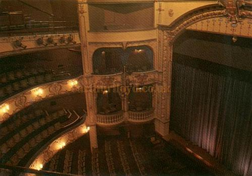 Auditorium of the present Theatre Royal, York - From a Postcard - Courtesy Alan Chudley.